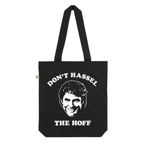 DON'T HASSEL THE HOFF TOTE BAG BLACK