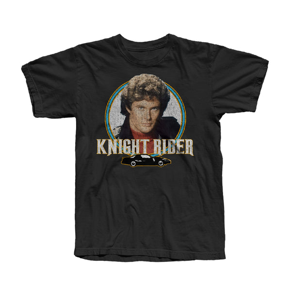 VINTAGE KNIGHT RIDER BLACK ACID WASH T-SHIRT