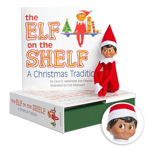 The Elf on the Shelf: A Christmas Tradition (includes boy Scout Elf with brown eyes)