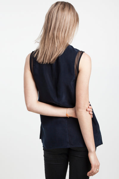 Eenvoud Sleeveless Top with Mesh - Thirteen30.co