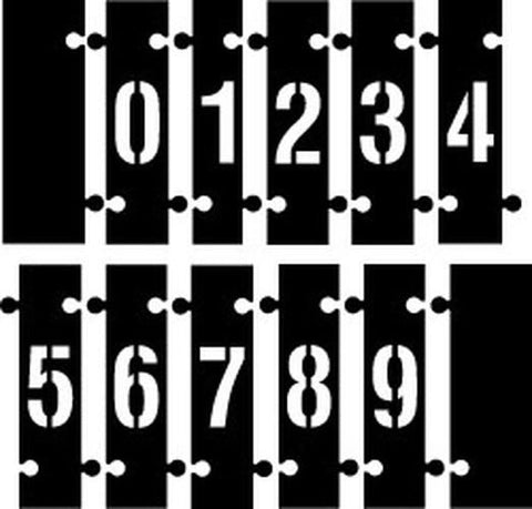 Interlocking - Number Stencils - 0-9 - Complete Set