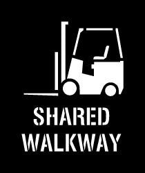 Shared Walkway Stencil (Forklift)