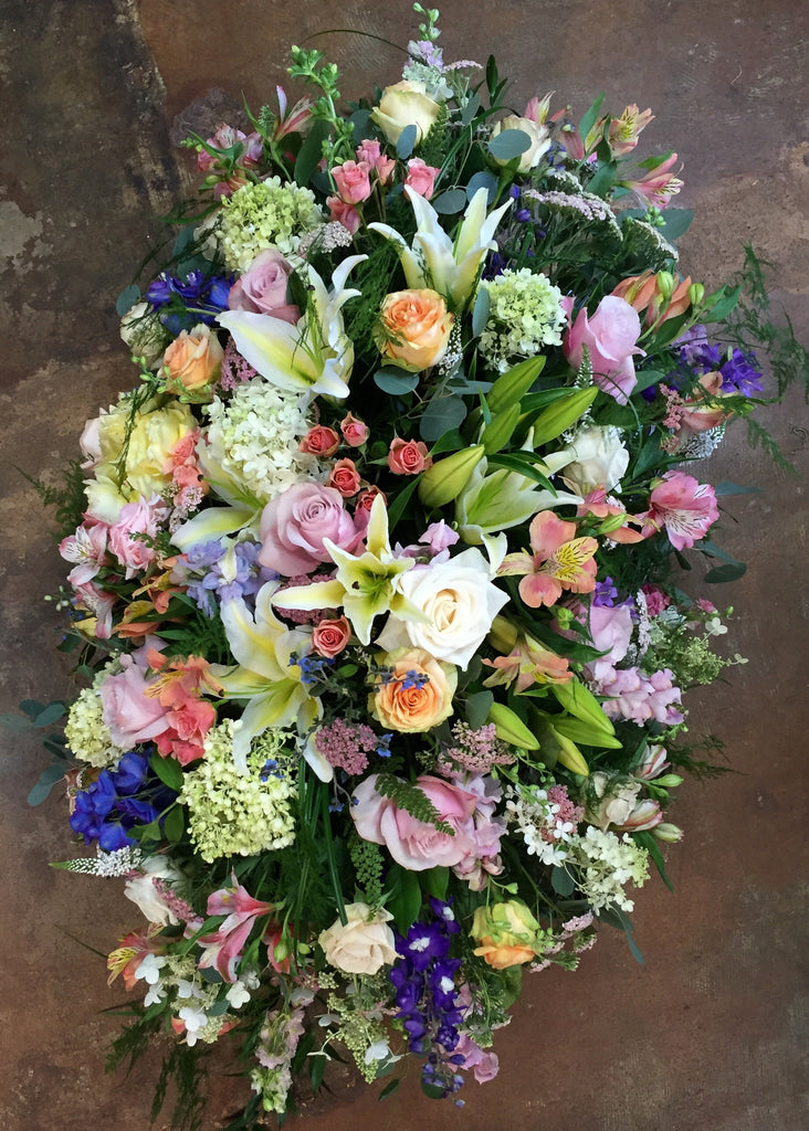 Deluxe Garden Casket Spray - PETALS Design and Living Gifts