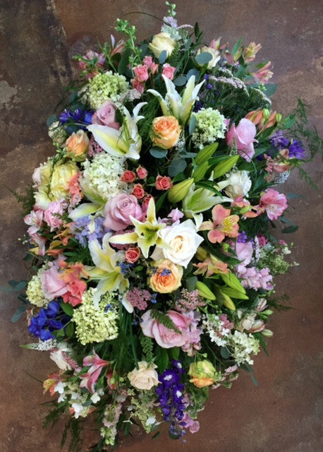 The Garden- Pastel Full Casket Spray - PETALS Design and Living Gifts