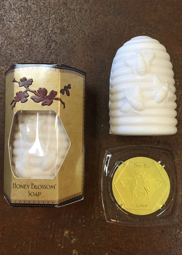 Bee Bar Honey Blossom Soap with dish - PETALS Design and Living Gifts