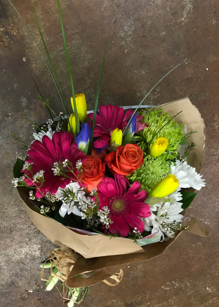 Market Bouquets- Freshest Picks of the Day- Large Hand tied bouquet (for those that do not need a vase)