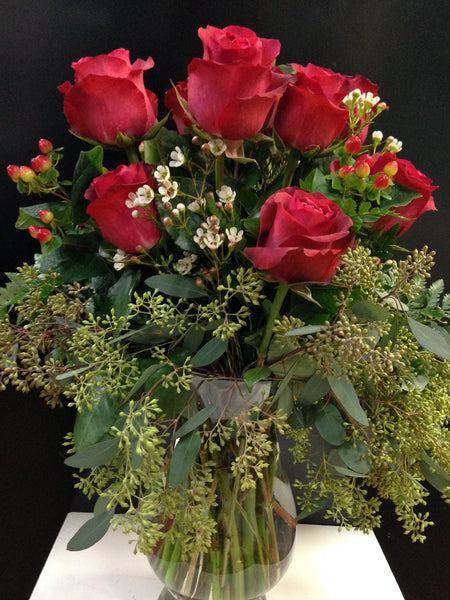 Roses Half Dozen - PETALS Design and Living Gifts