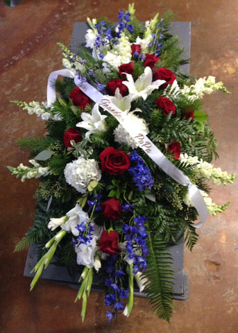 Large Patriotic Standing Spray - PETALS Design and Living Gifts