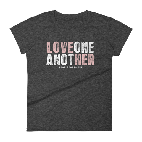 "Women's ""Love Her"" T-Shirt (Light Pink Font)"