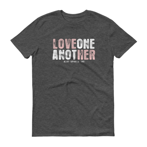 "Men's ""Love Her"" T-Shirt (Light Pink Font)"