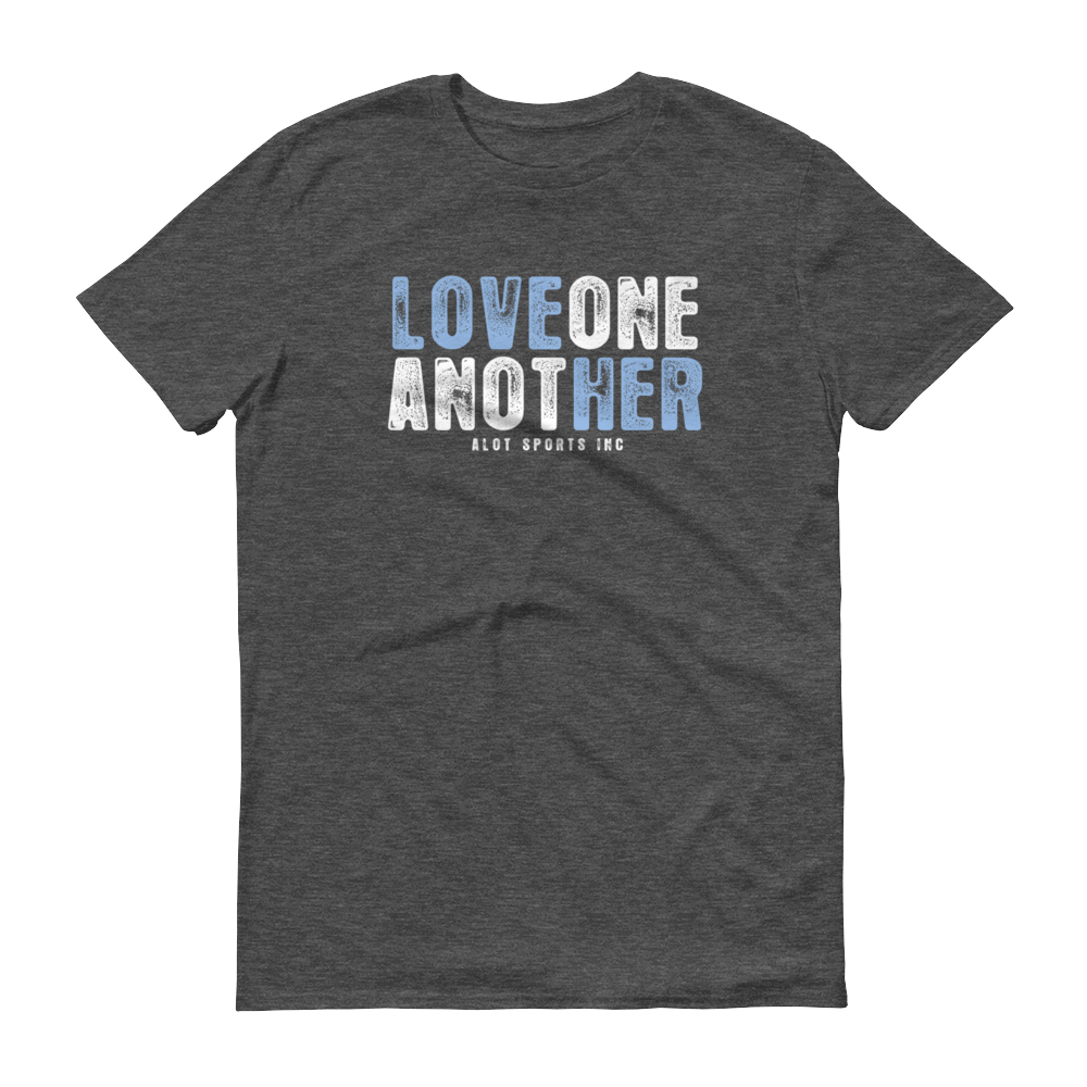 "Men's ""Love Her"" T-Shirt (Light Blue Font)"