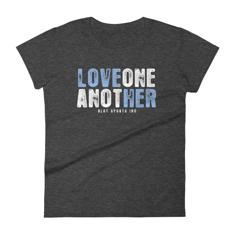 "Women's ""Love Her"" T-Shirt (Light Blue Font)"