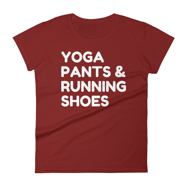 Women's Yoga Pants & Running Shoes T-Shirt