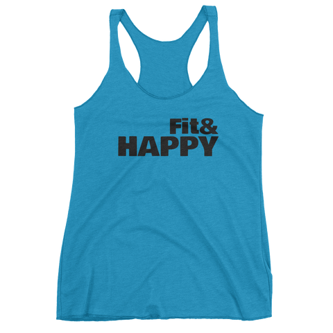 Women's Fit & Happy Racerback Tank