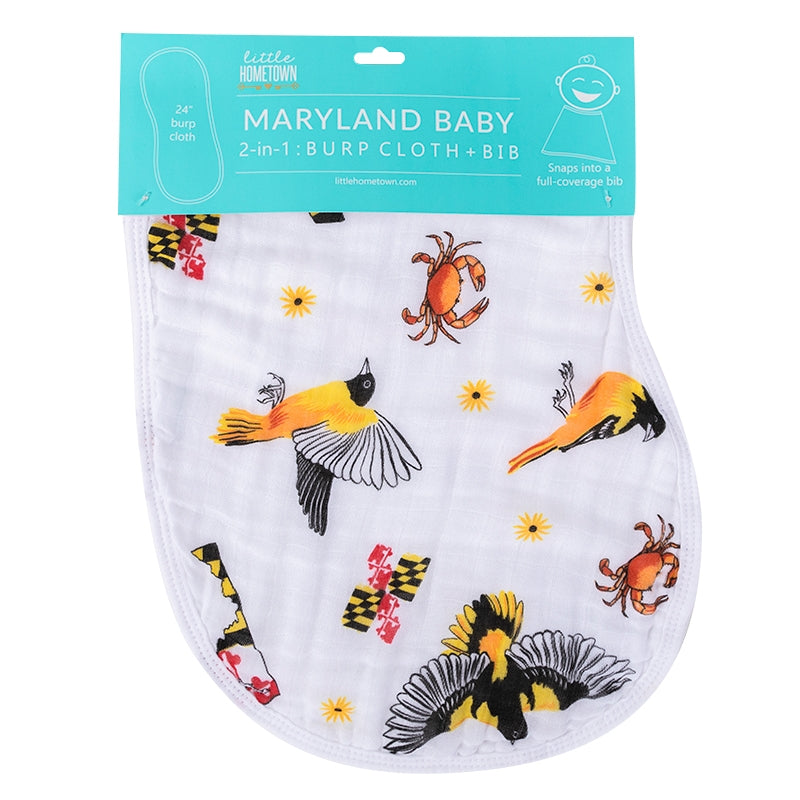 Maryland Baby 2-in-1 Burp Cloth and Bib