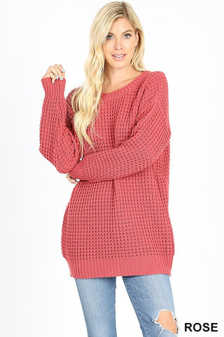 The Favorite Knit Sweater in Rose