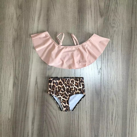 Two Piece Leopard Swim