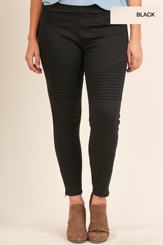 Washed Moto Jeggings~ Black