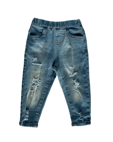 Drew Distressed Denim Jeans - Light Wash