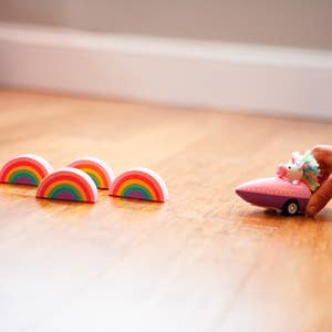 Unicorn + Rainbow Mini Bowling Game