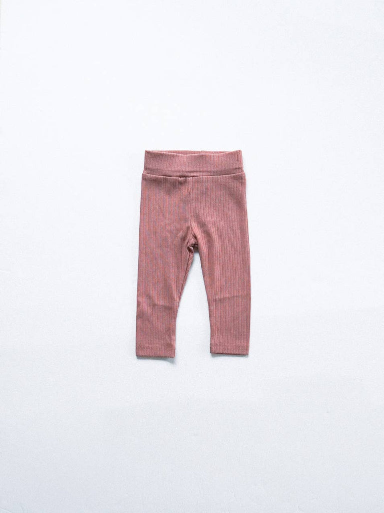 Ribbed Leggings- Mauve