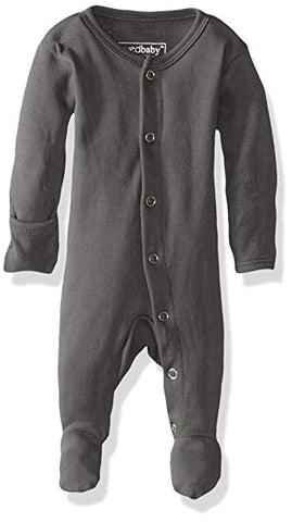 L'ovedbaby Unisex-Baby Organic Cotton Footed Overall Gray