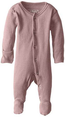 L'ovedbaby Unisex-Baby Organic Cotton Footed Overall Mauve