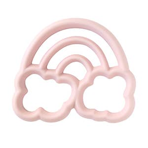 Chew Crew™ Silicone Baby Teether Pink Rainbow