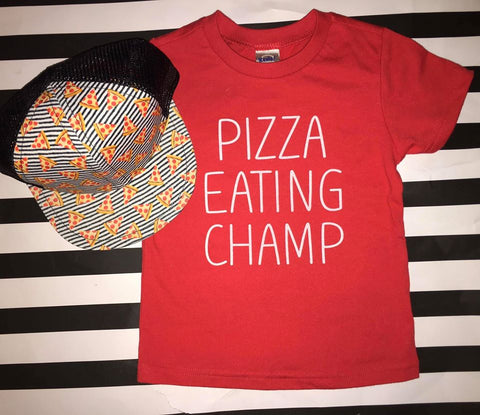 Pizza Eating Champ Tee