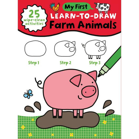 My First Learn To Draw: Farm Animals Book