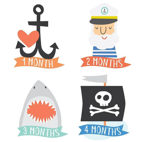 Little Captain Monthly Sticker
