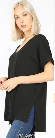 The Favorite Vneck Tee in Black