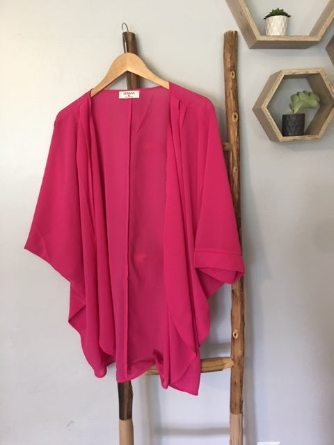 The Favorite Kimono in Hot Pink
