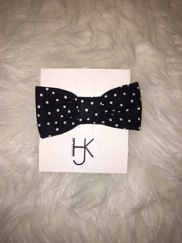 Black with White Dots Bowtie