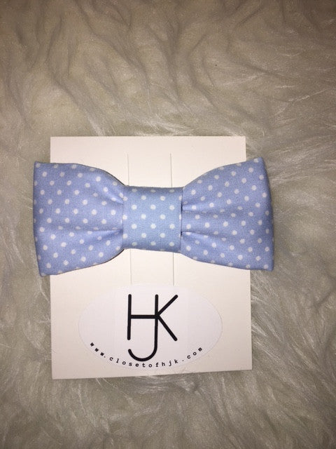 Light Blue Polka Dot Bowtie