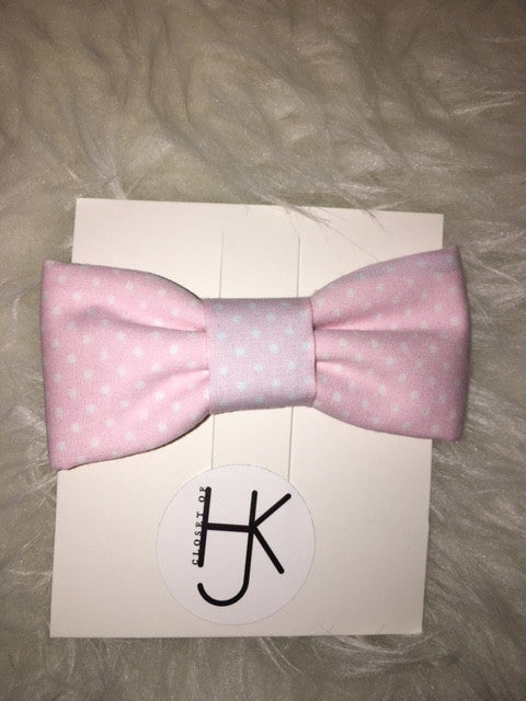 Pink Blush Dot Bowtie