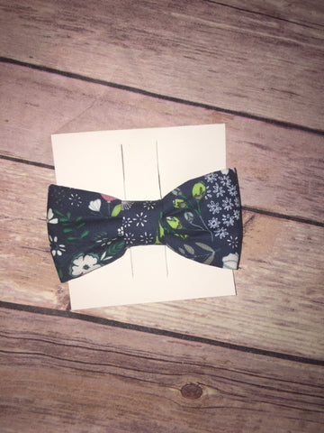 Navy and Blue Fall Floral Bowtie
