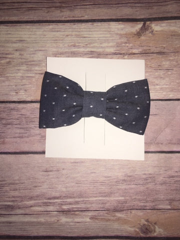 Blue Chambray Dots Bowtie