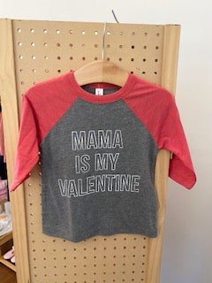 Mama is My Valentine Raglan