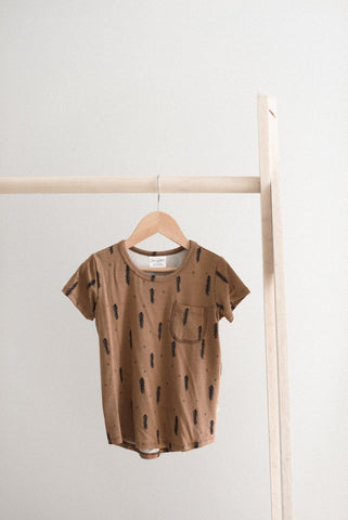 Basic Slouchy Tee in Forest