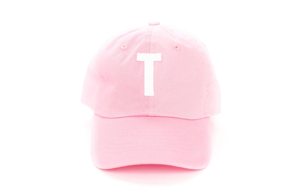 Pink Letter Hat~ Various Letters Available