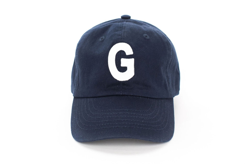 Navy Letter Hat~ Various Letters Available