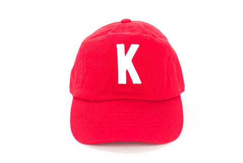 Red Letter Hat~ Various Letters Available