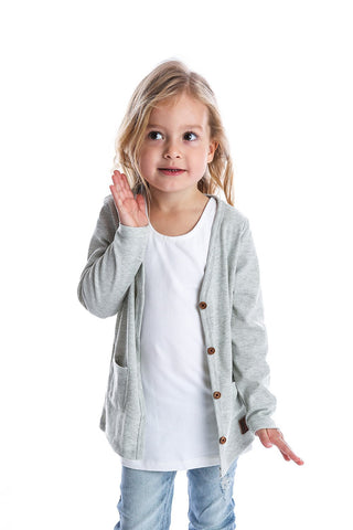 Light Grey Marle Signature Cardigan