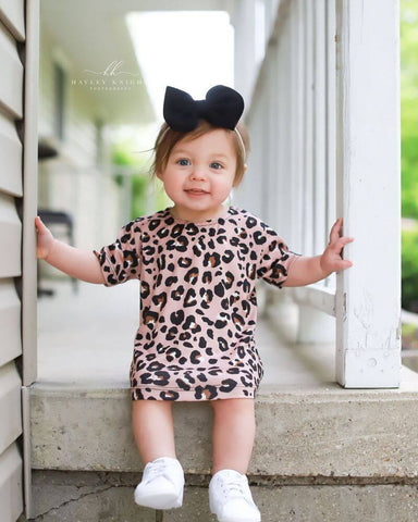 Lady Leopard Tshirt Dress