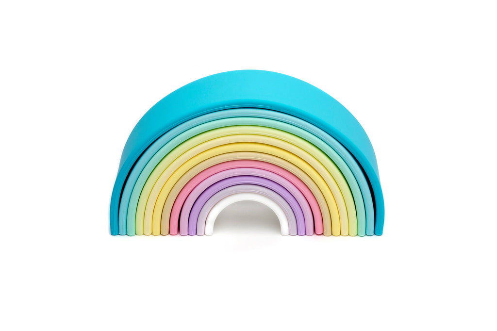 Silicone Rainbow Stacker~ Pastel