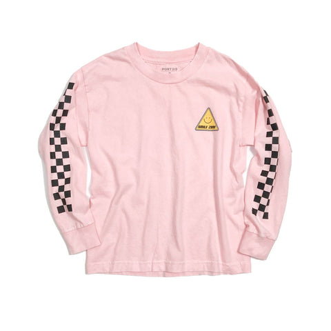 Smile Zone Checkered Long Sleeve Tee