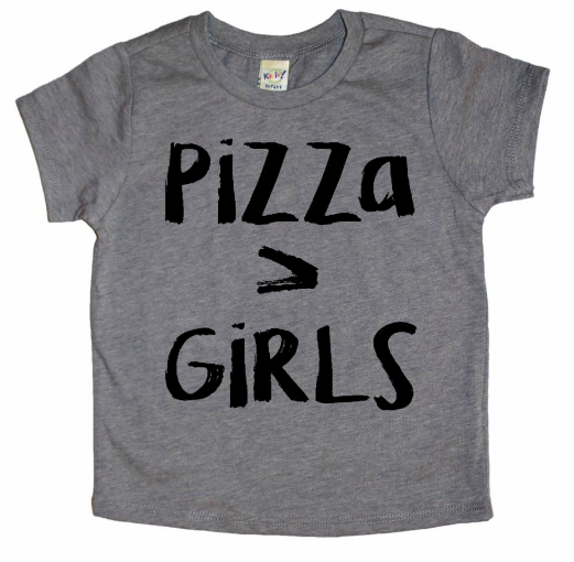 Pizza > Girls Tee- Two Colors Available