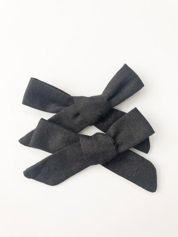Black Bow Headband Or Clip