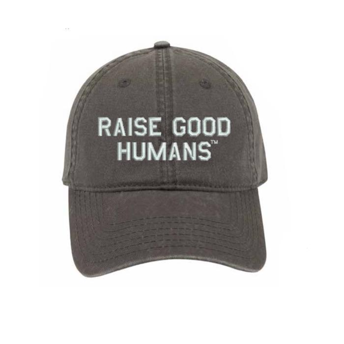 Raise Good Humans Charcoal Baseball Cap